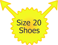 Size 20 shoes